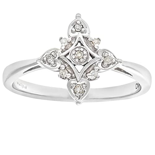 Naava Women's 9ct Fancy Illusion set Diamond Ring