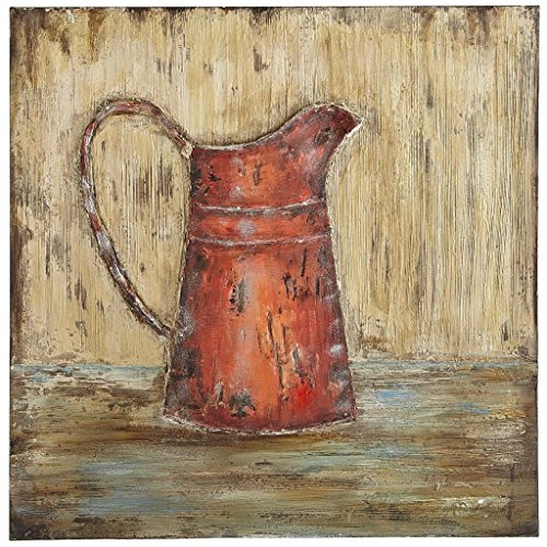 Art Painting-Antique Red Tea Kettle Modern Abstract Landscape Oil Painting On Canvas Wall Art Deco Home Decoration (Unstretch No Frame)