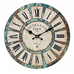 16-inch French Tuscan Wood Wall Clock, Carpenter Large size clock (16)