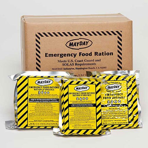 Mayday Food Bars Emergency 3600 Calorie Food Bars (20 per case) weight 39 lbs Image