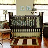 My Baby Sam 3 Piece Paisley Splash Crib Bedding Set, Lime