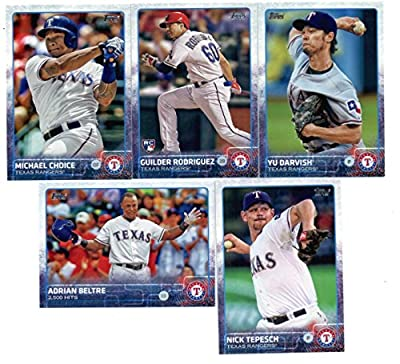 2015 Topps Baseball Cards Texas Rangers Team Set (Series 1- 9 Cards) Including Yu Darvish, Adrian Beltre, Nick Tepesch, Michael Choice, Guilder Rodriguez, Adrian Beltre, Alexi Ogando, Elvis Andrus, ShinSoo Choo