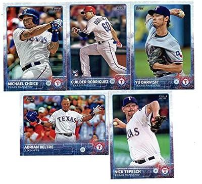 2015 Topps Baseball Cards Texas Rangers Team Set (Series 1- 9 Cards) Including Yu Darvish, Adrian Beltre, Nick Tepesch, Michael Choice, Guilder Rodriguez, Adrian Beltre, Alexi Ogando, Elvis Andrus, ShinSoo Choo
