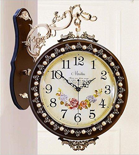 bois-retro-horloge-murale-pastorales-montres-de-mode-muet-moderne-coffee