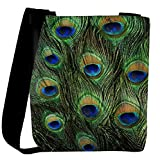 Snoogg Feather Pattern Womens Carry Around Cross Body Tote Handbag Sling Bags