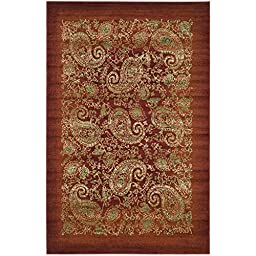 Safavieh Lyndhurst Collection LNH224B Red and Multi Area Rug, 4 feet by 6 feet (4\' x 6\')