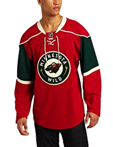 NHL Minnesota Wild Authentic Jersey, Red, 50
