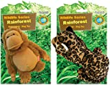 Sergeant's Protected Wildlife Series Small Dog Toy, Orangutan and Jaguar