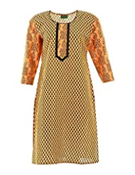 2dots Women's Cotton Regular Fit Kurti - B00VK5TANM