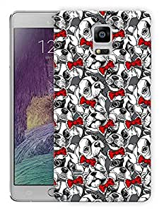 """Humor Gang Pups And Bows - RedPrinted Designer Mobile Back Cover For """"Samsung Galaxy Note 4"""" (3D, Matte, Premium Quality Snap On Case)..."""