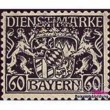sellos para coleccionistas: Baviera d23w examinado, papel de paz y engomado de paz con charnela 1916 Emblema del...
