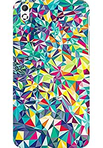 AMEZ designer printed 3d premium high quality back case cover for HTC Desire 816 (abstract shapes)