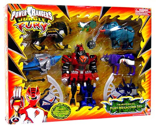 Power Rangers Jungle Fury Deluxe Transforming Fury Megazord Set
