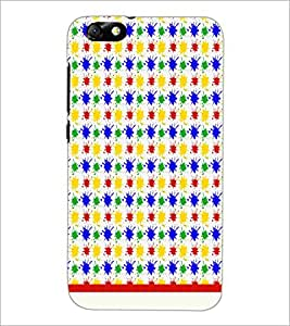 PrintDhaba Pattern D-1136 Back Case Cover for HUAWEI HONOR 4X (Multi-Coloured)
