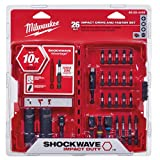 Milwaukee Electric Tool 48-32-4408 Shockwave Drive & Fasten Bit Set (Color: Red, Tamaño: Pack of 1)