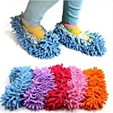 Generic Cute Dust Mop Slippers Shoes Floor Cleaner Clean Easy Bathroom Office Kitchen(Purple)
