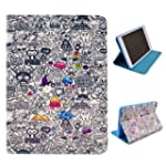 Uming Retro Colorful Pattern Print Le...