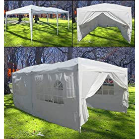 New 10' X 20' White Party Tent Gazebo Canopy W/ Walls Heavy Duty Polyester Water proof