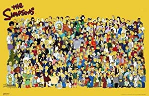 (24x36) The Simpsons (Full Cast) TV Poster Print