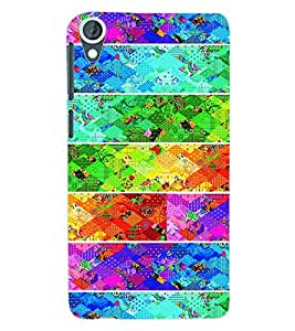 ColourCraft Pattern Design Back Case Cover for HTC DESIRE 820