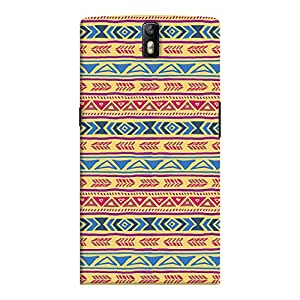 ColourCrust OnePlus One Mobile Phone Back Cover With Indian Pattern - Durable Matte Finish Hard Plastic Slim Case