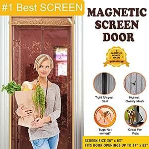 Heart sea art magnetic screen door 1 best quality tough for Bug off instant screen door