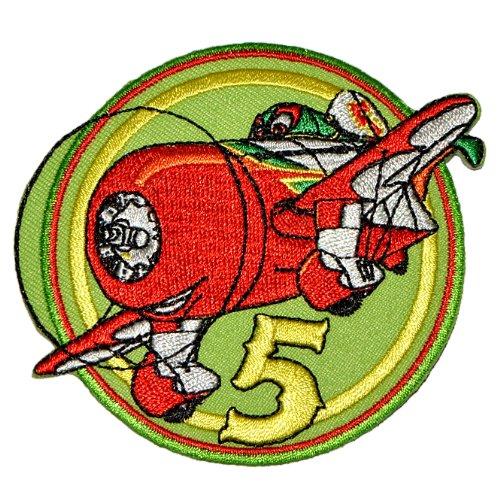 Bügelbild - Disney Planes El Chupacabra 8,5 cm * 7,4 cm - Aufnäher Applikation Flugzeug Granville Gee Bee Mexiko