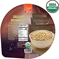 12-Pack Microwaveable Organic Steamed Asian Fresh Bowl 7.2 Ounce Brown Instant Rice