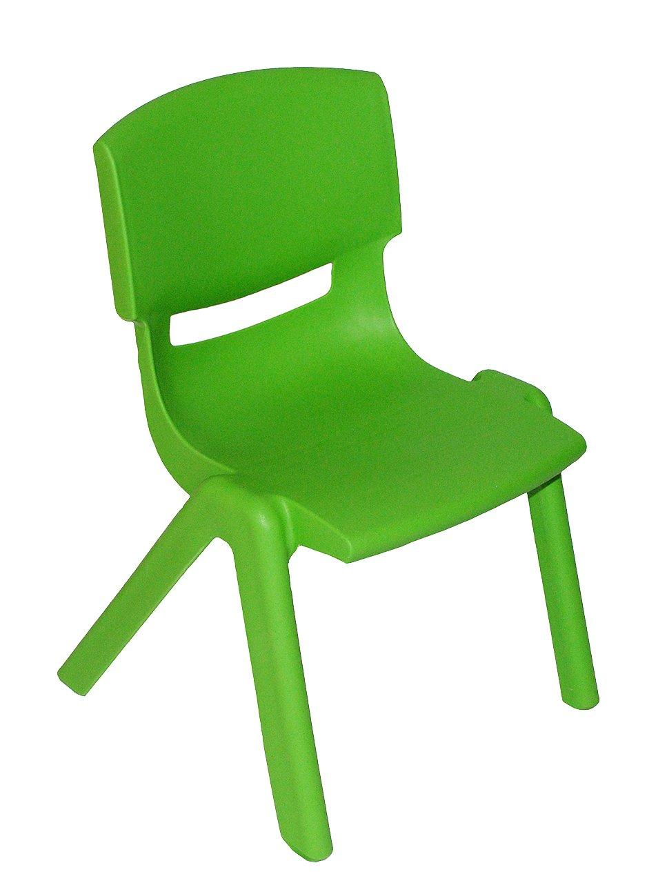 Kinderstuhl – GRÜN – stapelbar / kippsicher / bis 100 kg belastbar – für INNEN & AUßEN – Kindermöbel für Mädchen & Jungen – Plastik / Kunststoff – Stuhl Stühle / Kinderzimmer / Plastikstuhl – Kinder – Gartenmöbel online kaufen