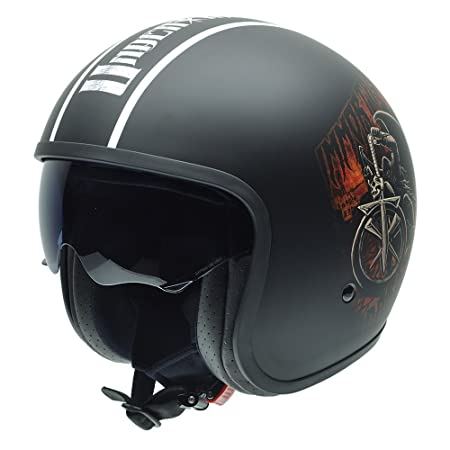 NZI 050309G803 Rolling Undertaker INMORTAL by Superstars WWE, Casque de Moto, Taille L Multicolore