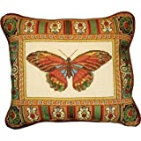 Candamar Designs 30939 Butterfly with Mosaic Border Needle Point Kit, 14 by 17-Inch