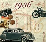 76. Geburtstag Geschenken – 1936 Chart Hits CD und 1936 Geburtstagskarte