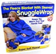 Adult snuggle wrap blanket with sleeves