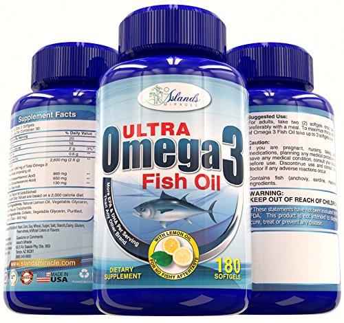 Huile de poisson Omega 3 (plus haute puissance)