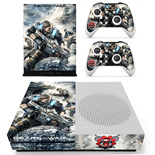 Vanknight Vinyl Decal Skin Stickers Cover for Xbox One S/Slim Console 2 Controllers (Xbox One Console Gears Of War compare prices)