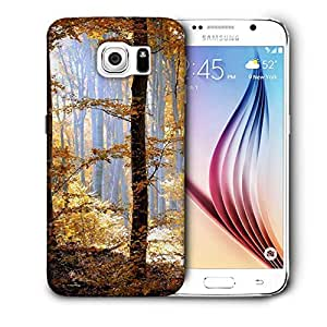 Snoogg Yellow Forest Printed Protective Phone Back Case Cover For Samsung Galaxy S6 / S IIIIII