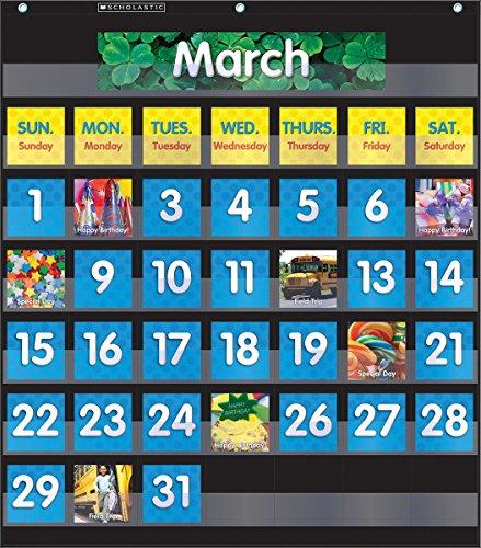 Classroom Calendar Chart : Pocket chart calendar black toolfanatic