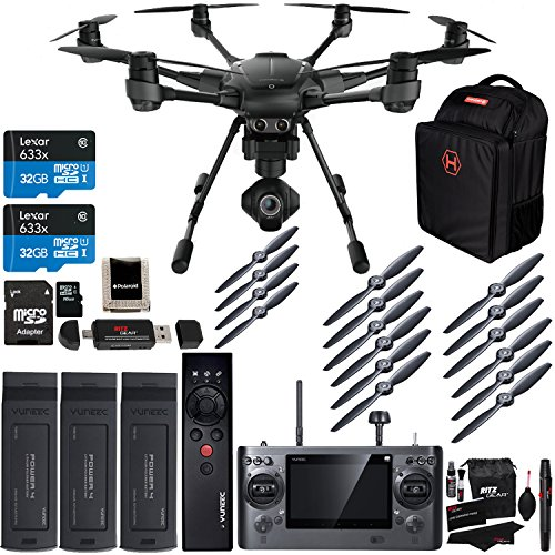 Yuneec Typhoon H Pro 4k Collision Avoidance Hexacopter GCO3 4K Camera Kit, Wizard Wand, Bag, Propeller Set, Battery, Lexar 32GB...