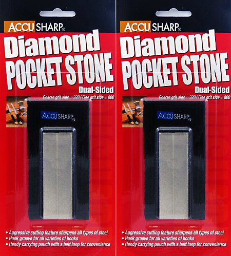 Accusharp Diamond Pocket Stone Knife Sharpener 2 Pack