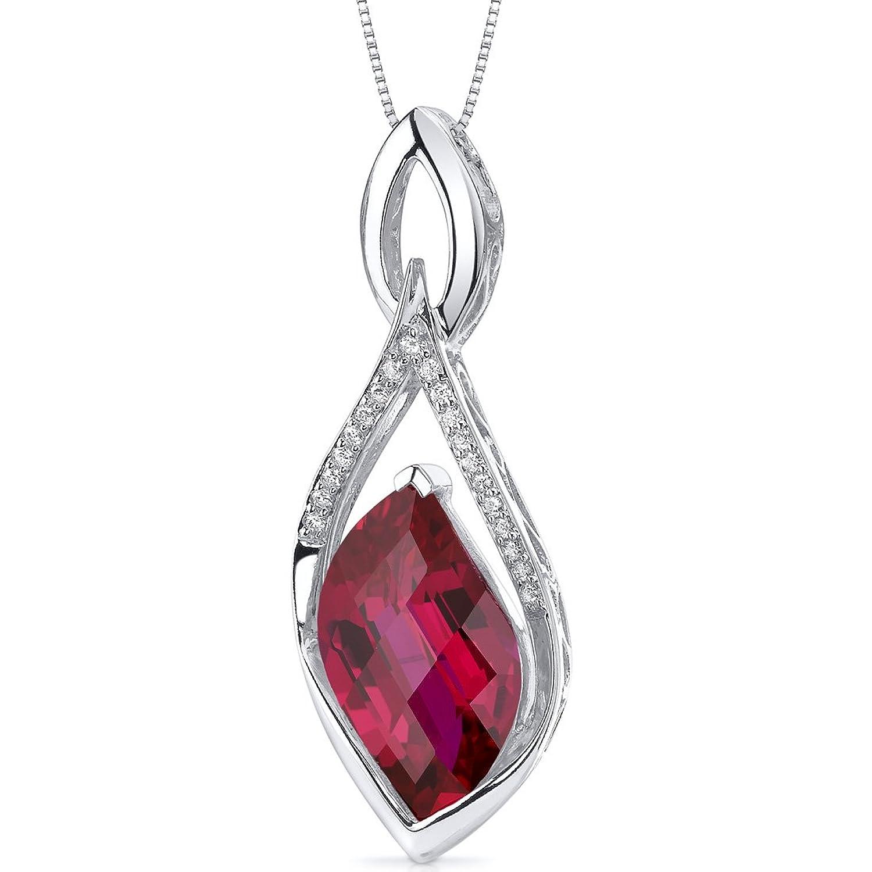Revoni Damen Halskette 925 Sterling Silber Rubin 1.91 cm rot PER-SP10668 günstig kaufen