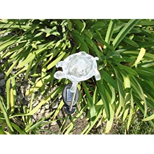 Solar Powered Turtle Garden Stake GTMax Solar Turtle Color Change Light E2178 (set of 2) at Sears.com