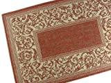 American Mills Entwined Polypropylene Indoor/Outdoor Area Rug, 2-Feet by 7-Feet 6-Inch, Terracotta