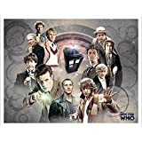 Doctor Who Doctors Collage Sci Fi British TV Television Show Poster Print, Unframed 11x14