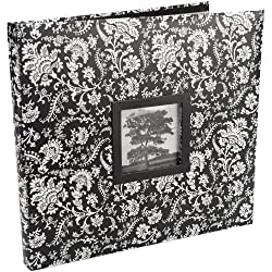 Martha Stewart Crafts 12-by-12-Inch Fashion Album, Black and White Floral