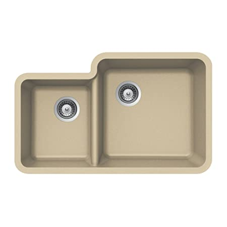Houzer SOLIDO N-175 COLORADO Solido Series Undermount Granite Double Bowl Kitchen Sink, Colorado