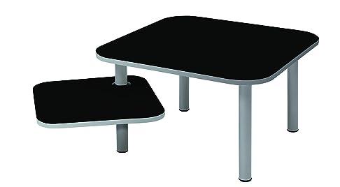 Alba moderno caffè tavolo, nero, 60 x 60 cm