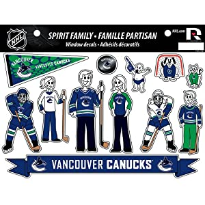 Amazon.com : NHL Vancouver Canucks Family Decals Sheet : Sports