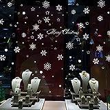 FeiFei(フェイフェイ) 賃貸OK! 剥がせる!W147= \雪の結晶/!クリスマス演出に最適! クリスマス リース  装飾  ウォールステッカー (付属品:専用ポスターケース梱包+練習用転写シール+簡易取説付)ウォールステッカー・インテリアシート・リメイクシート