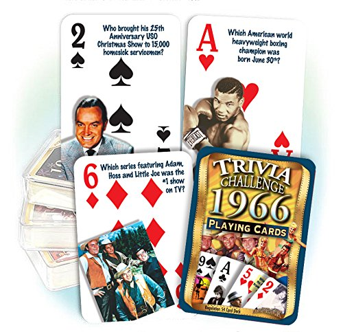 Flickback 1966 Trivia Playing Cards 50th Birthday Or 50th