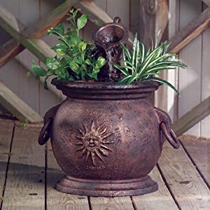 Fountain, Copper Kettle with Planter (Discontinued by Manufacturer)